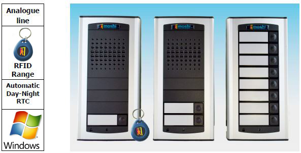 Moshi Door Entry Systems Analogue Door Entry Gate Entry Systems